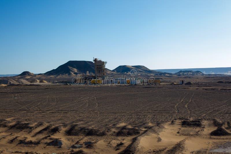 埃及沙漠场面 库存图片