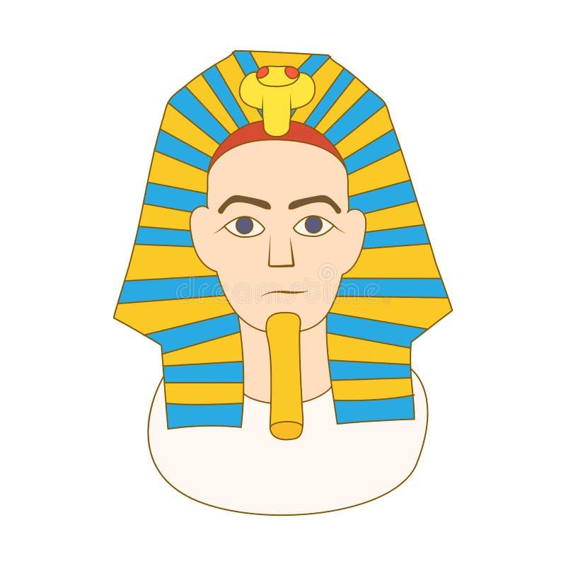 埃及法老王象,动画片样式 向量例证