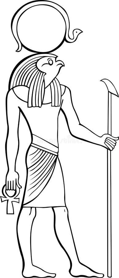 埃及法老王 库存例证