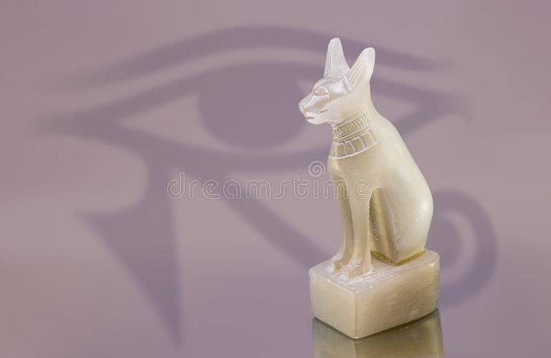 埃及猫雕象 库存图片