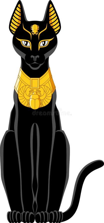 埃及猫 库存例证