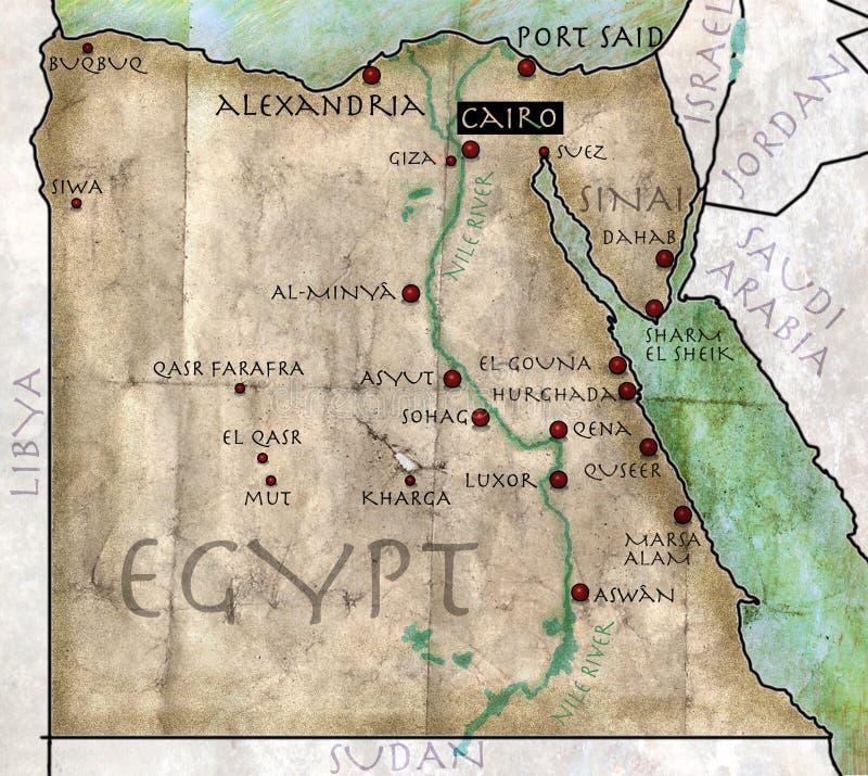 埃及的地图 皇族释放例证