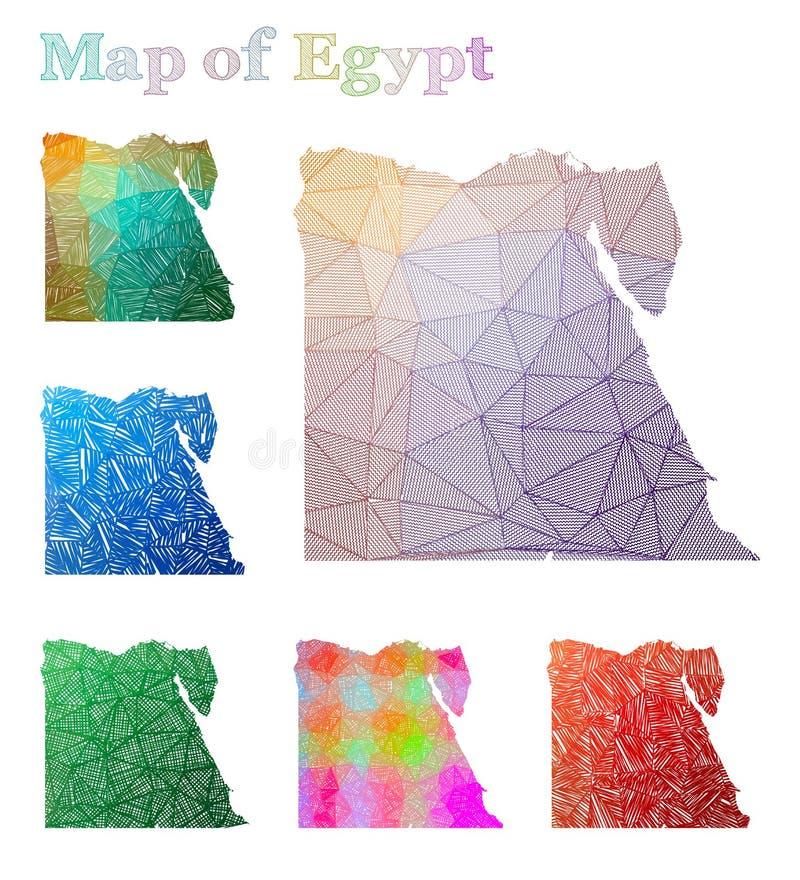 埃及的手拉的地图 皇族释放例证