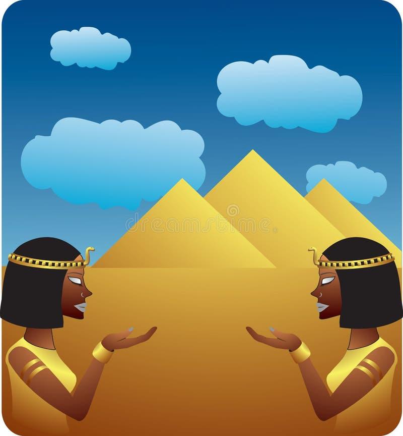 埃及符号 皇族释放例证