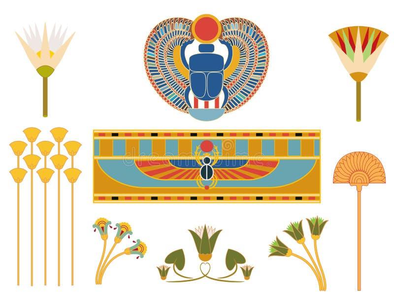 埃及符号 库存例证