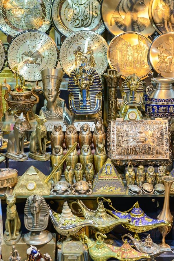 埃及纪念品义卖市场 免版税库存图片