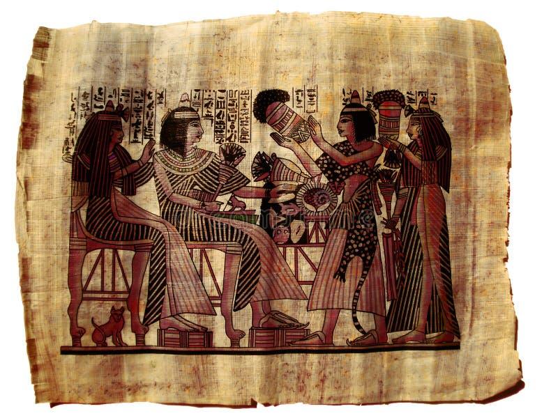 埃及绘画纸张纸莎草 皇族释放例证