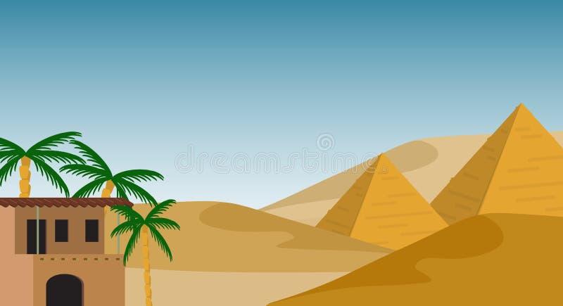 埃及背景 图库摄影