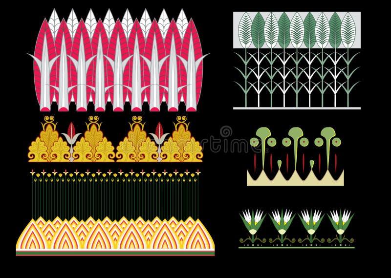 埃及装饰品 向量例证