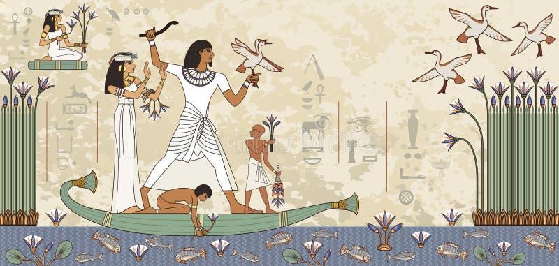 埃及象形文字和标志 皇族释放例证