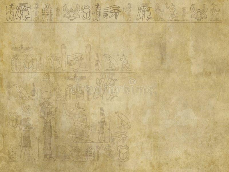 埃及象形文字背景 库存例证