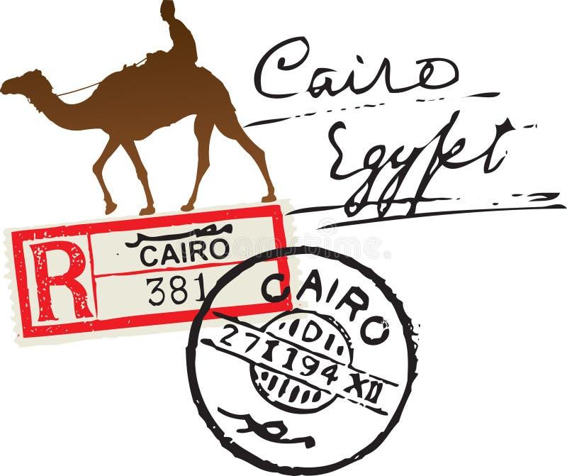 埃及邮票 皇族释放例证