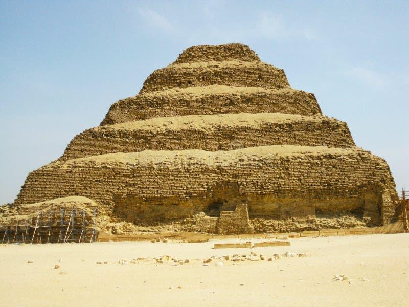 埃及金字塔塞加拉 库存图片