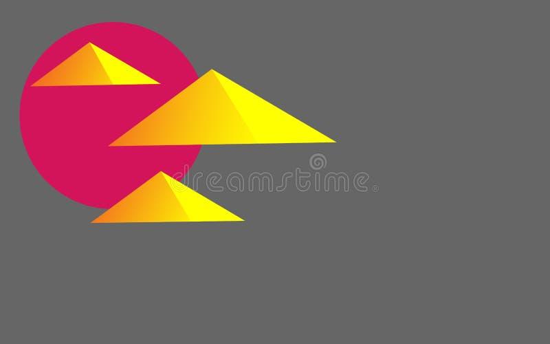 埃及金字塔的抽象传染媒介图象 向量例证
