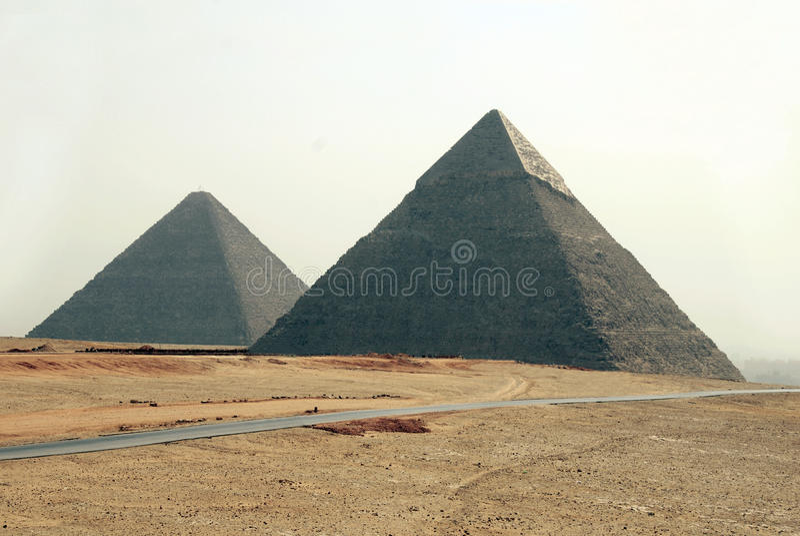 埃及金字塔 免版税库存照片