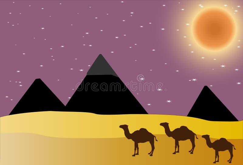 埃及金字塔 皇族释放例证