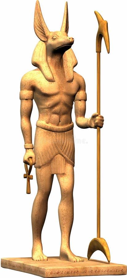 埃及雕象 库存例证