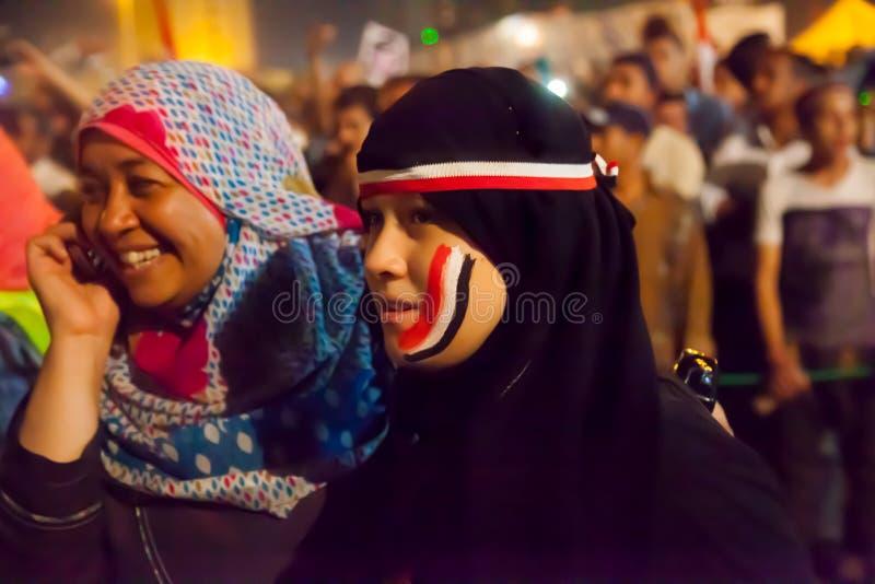 埃及革命女孩 免版税图库摄影