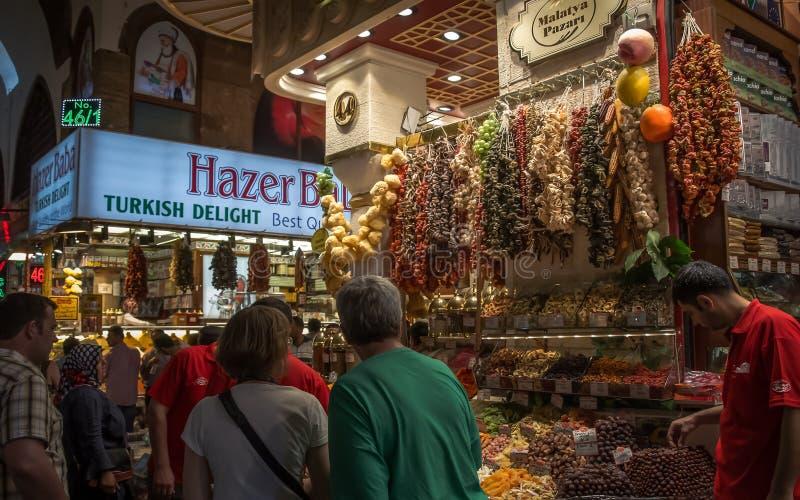 埃及香料义卖市场在伊斯坦布尔 免版税库存照片