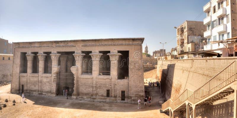 埃及esna khnum寺庙 图库摄影