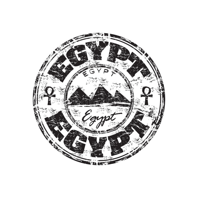 埃及grunge不加考虑表赞同的人 向量例证