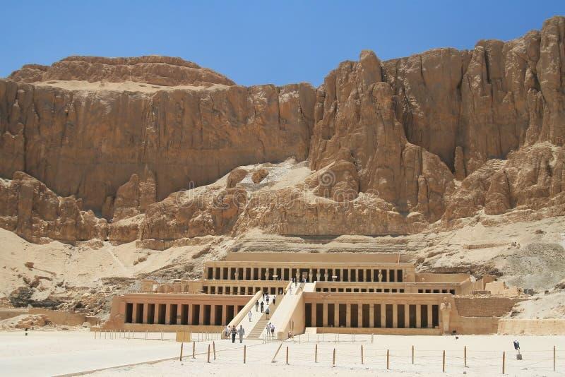 埃及hatshepsut寺庙 免版税库存图片