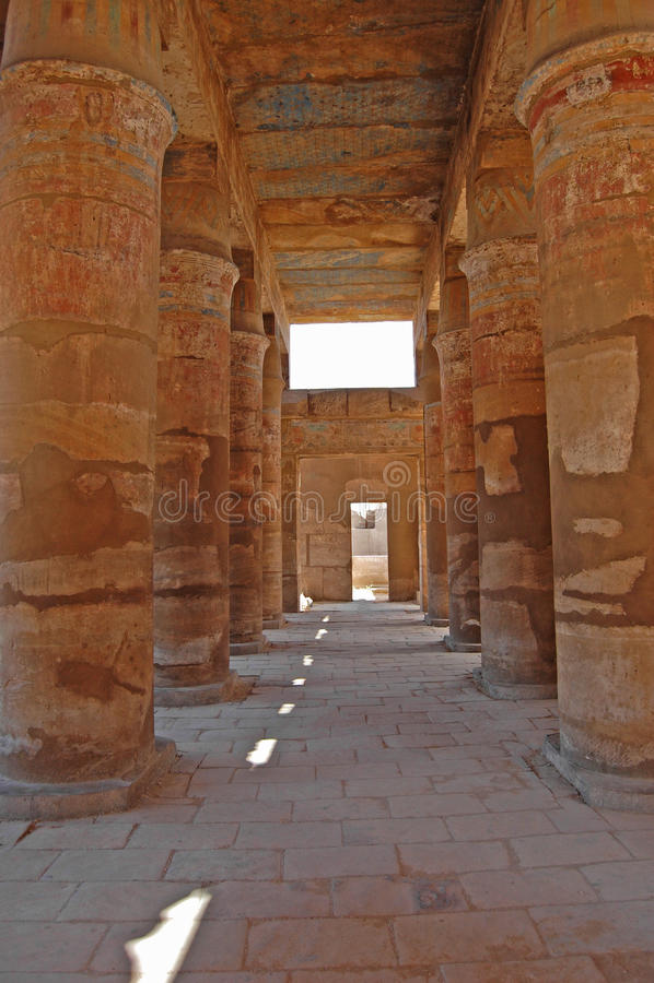 埃及karnak寺庙 图库摄影