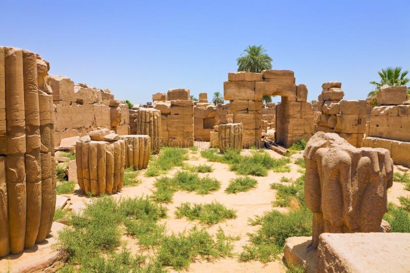 埃及karnak破庙 免版税库存照片