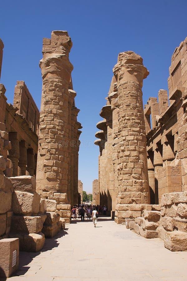 埃及karnak 图库摄影