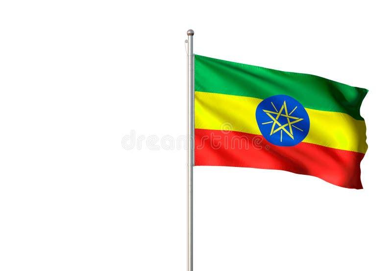 埃塞俄比亚全国沙文主义情绪的被隔绝的白色背景现实3d例证 库存例证