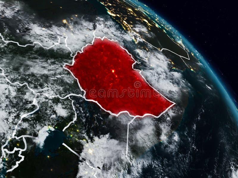 埃塞俄比亚在晚上 皇族释放例证