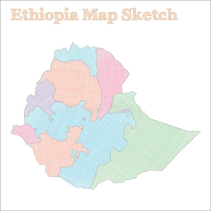 埃塞俄比亚地图 库存例证