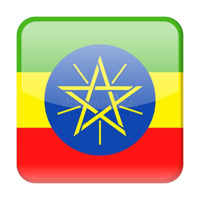 埃塞俄比亚旗子传染媒介正方形象 向量例证
