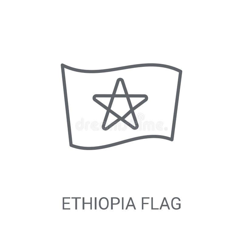 埃塞俄比亚旗子象 在白色b的时髦埃塞俄比亚旗子商标概念 皇族释放例证