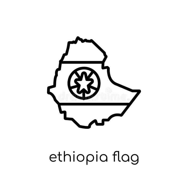 埃塞俄比亚旗子象  库存例证