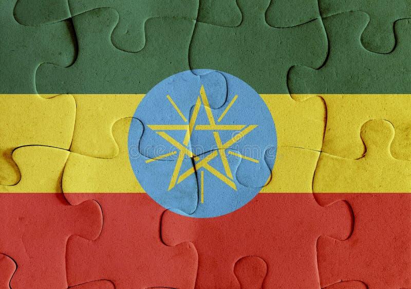 埃塞俄比亚旗子难题 皇族释放例证