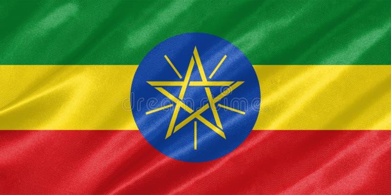 埃塞俄比亚旗子 免版税图库摄影