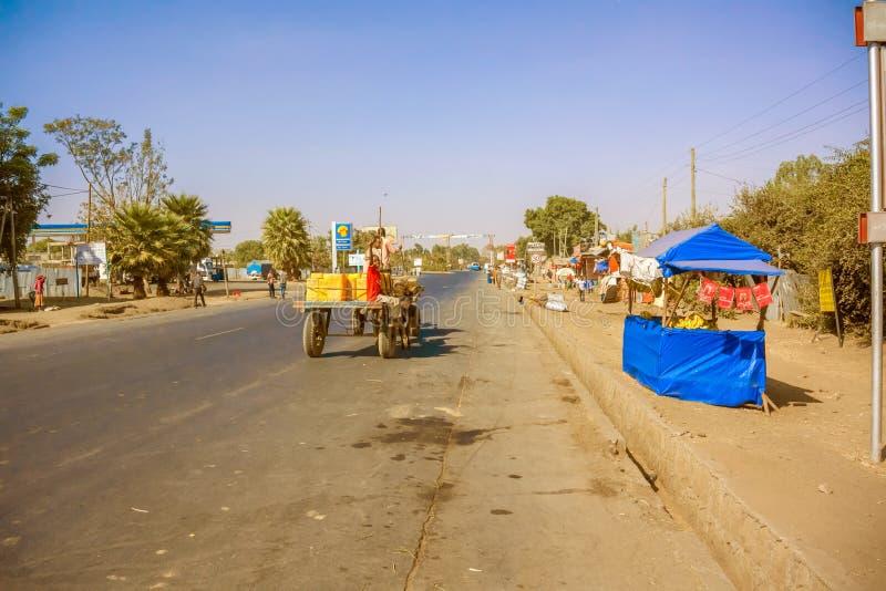 埃塞俄比亚村庄 库存照片
