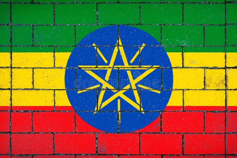 埃塞俄比亚标志国民 库存例证