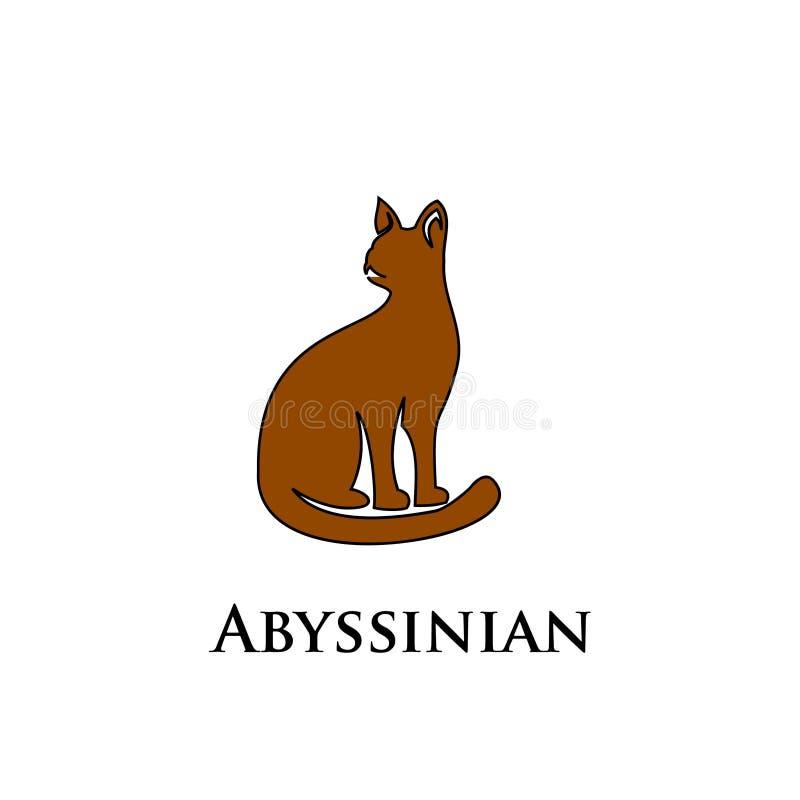 埃塞俄比亚猫商标象设计传染媒介 皇族释放例证