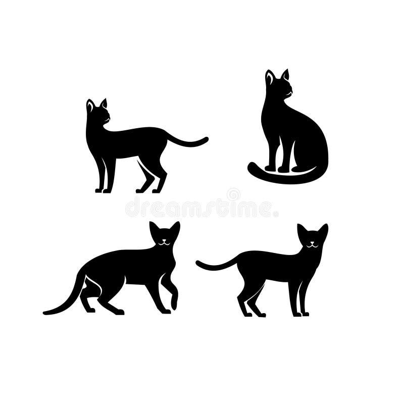 埃塞俄比亚猫商标象设计 库存例证
