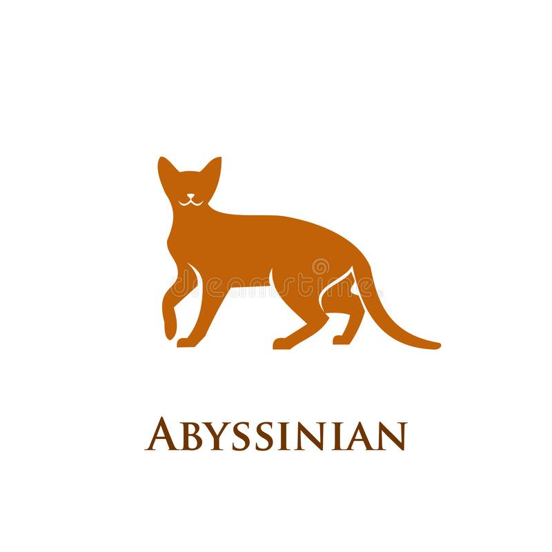 埃塞俄比亚猫商标象 库存例证