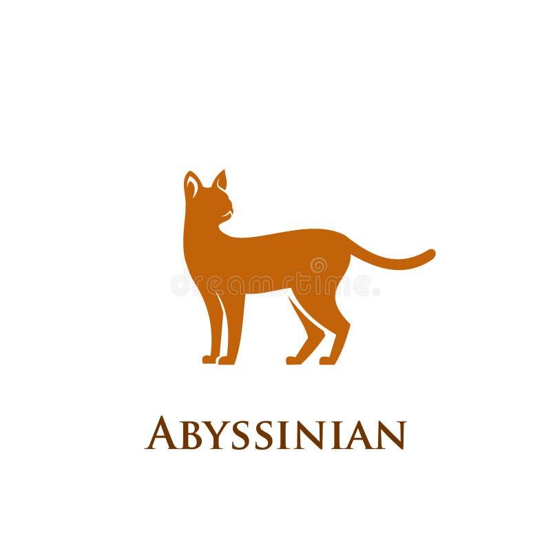 埃塞俄比亚猫商标象 向量例证
