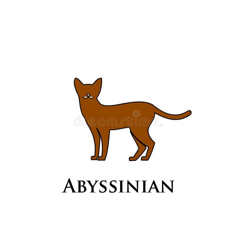 埃塞俄比亚猫商标象 皇族释放例证