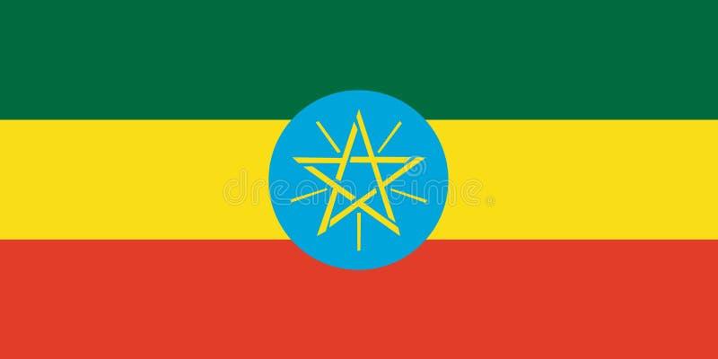埃塞俄比亚的国旗 与埃塞俄比亚的旗子的背景 皇族释放例证