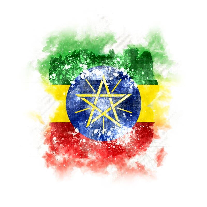 埃塞俄比亚的方形的难看的东西旗子 皇族释放例证