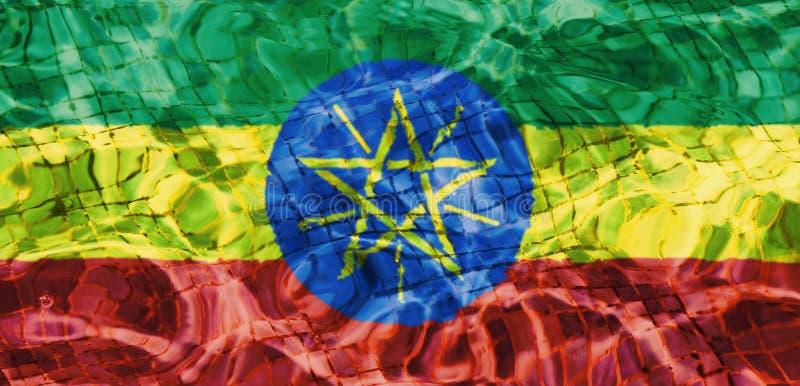 埃塞俄比亚的旗子的纹理 向量例证