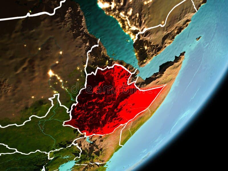 埃塞俄比亚的轨道视图 皇族释放例证