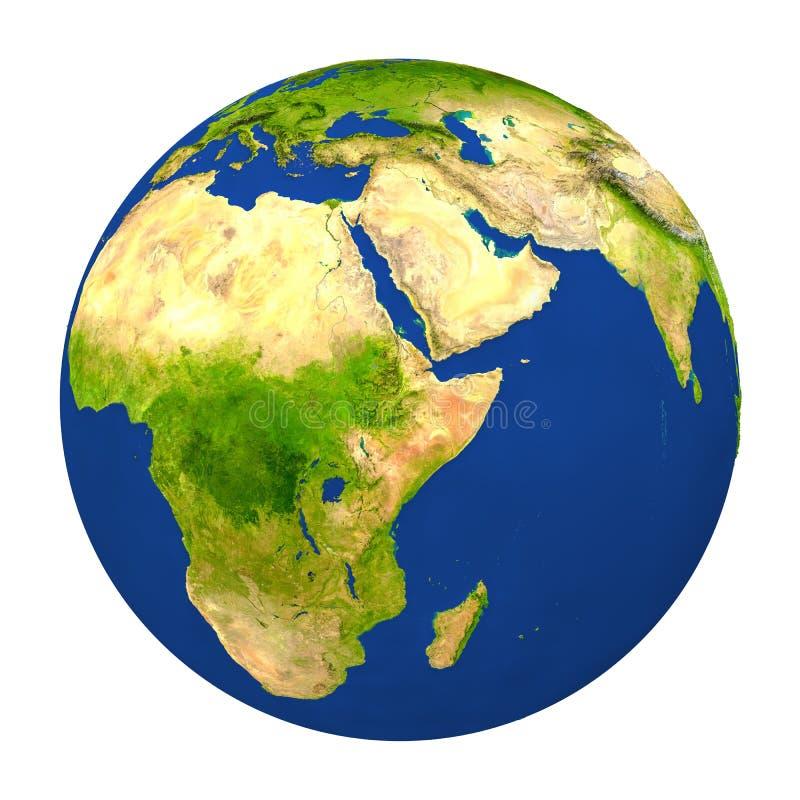 埃塞俄比亚突出了地球上 库存例证