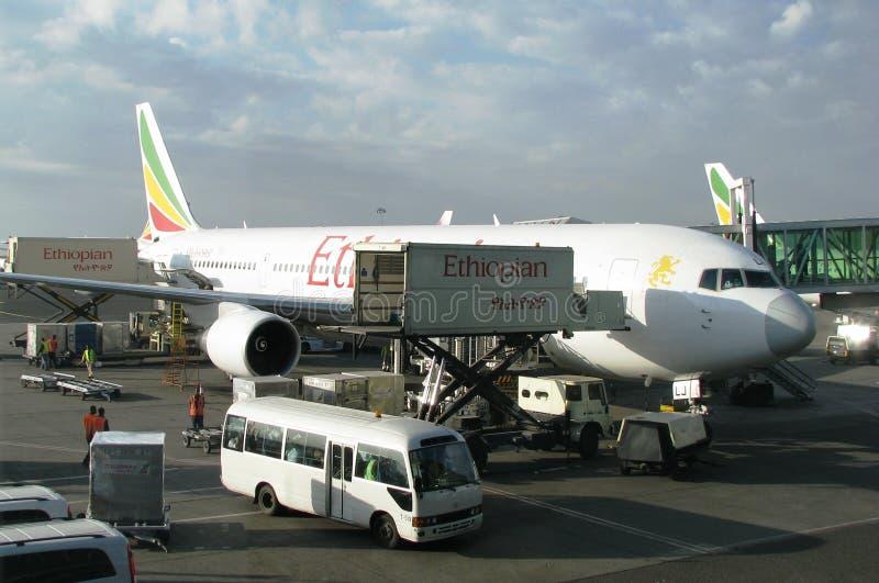 埃塞俄比亚航空航空器 免版税库存照片